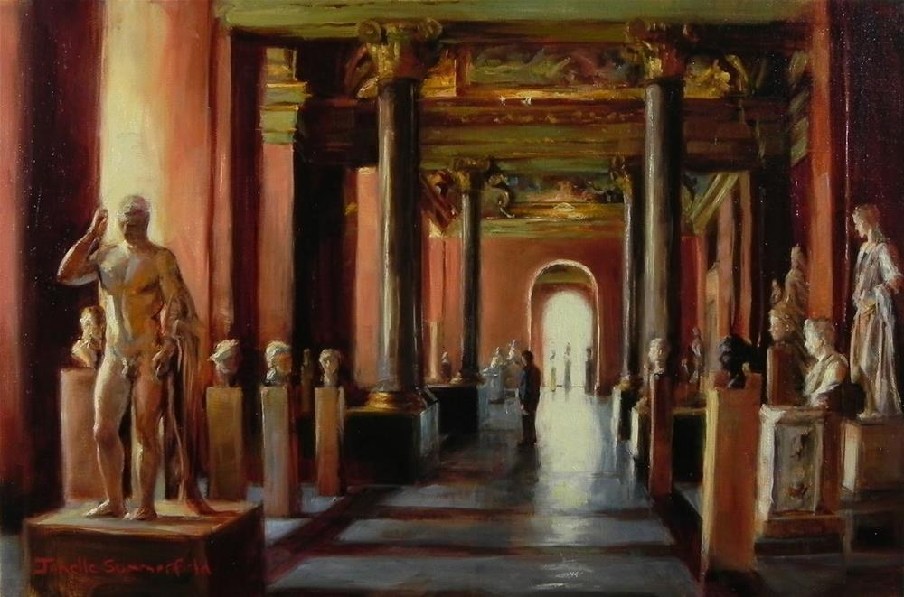 """Statues at the Louvre"" original fine art by Jonelle Summerfield"