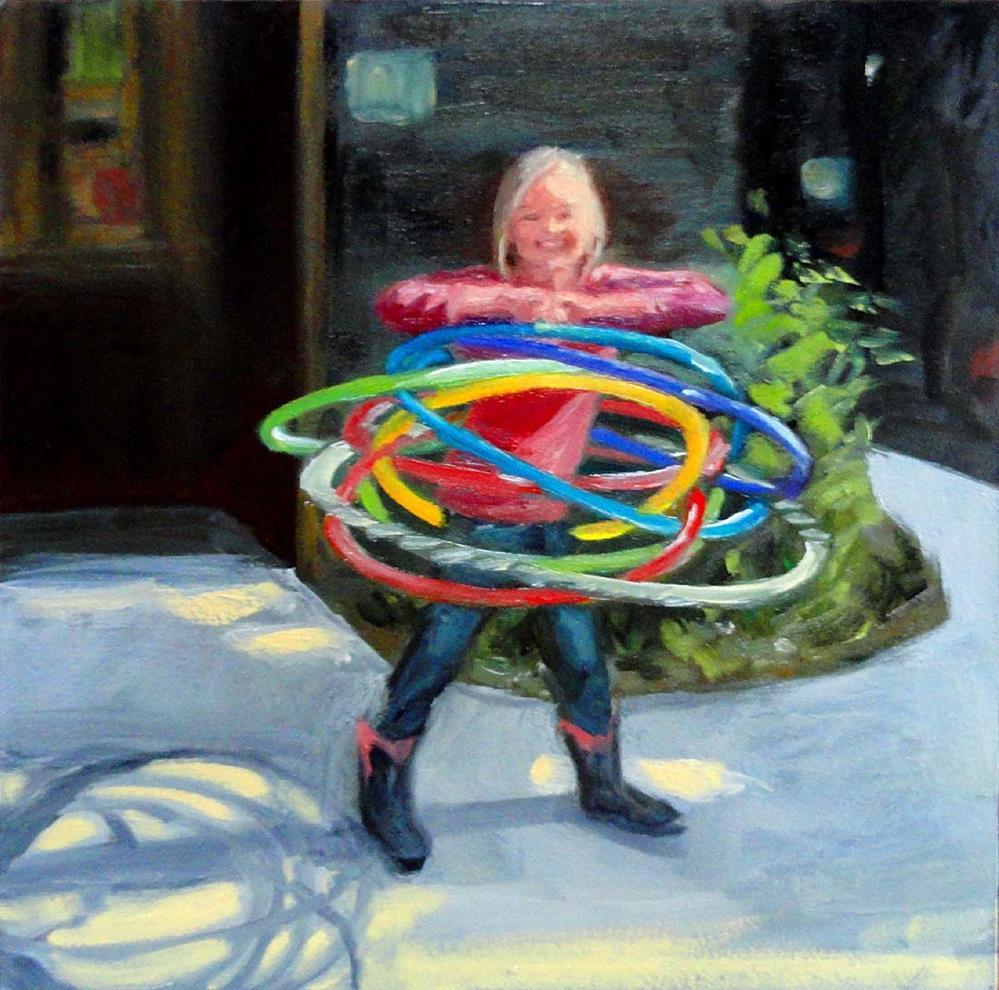 """Happy Hula Hooper"" original fine art by Cietha Wilson"