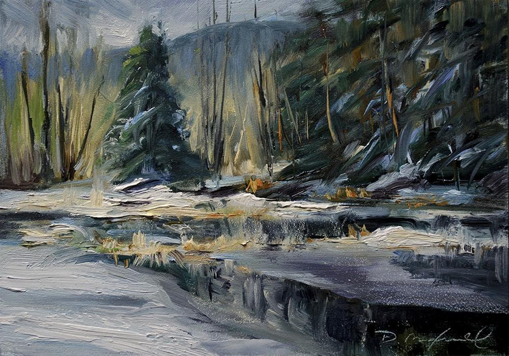 """Spring Thaw"" original fine art by Denise Maxwell"