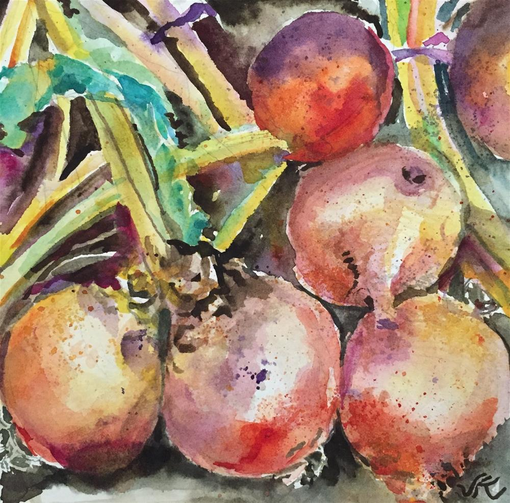 """Golden Beets"" original fine art by jean krueger"
