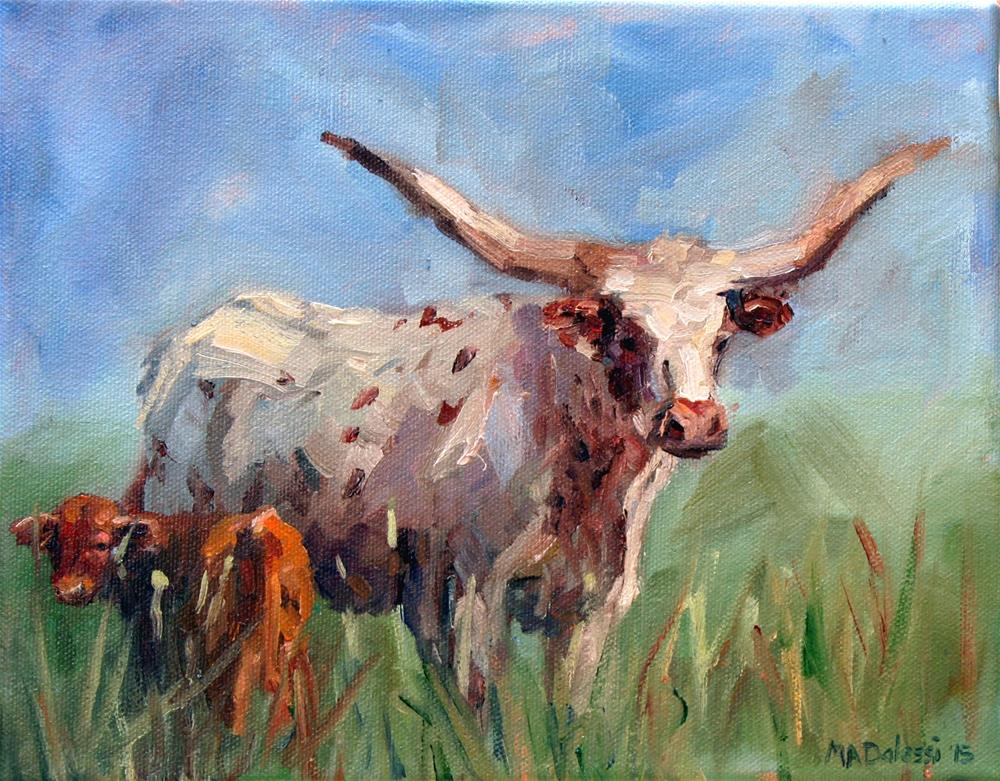 """Grazing with mum"" original fine art by Miranda Dalessi"