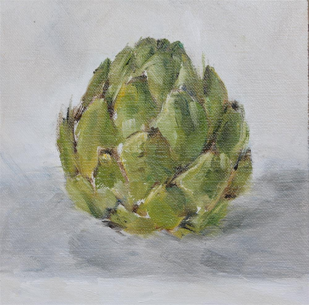"""The Lonely Artichoke"" original fine art by Karen Solorzano"