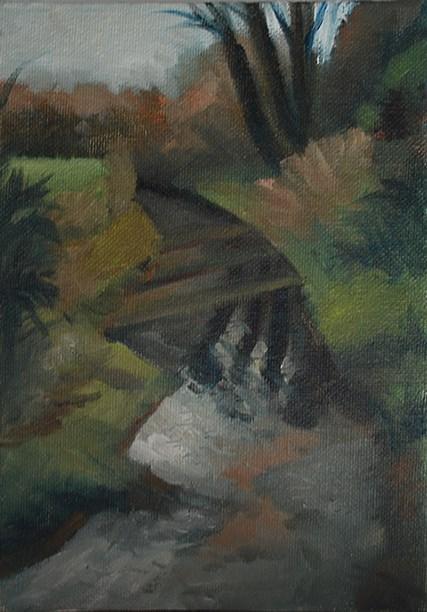 """River in Spring"" original fine art by J M Needham"