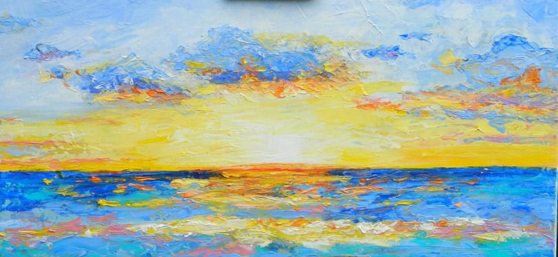 """Sunset #1"" original fine art by Gloria Urban"