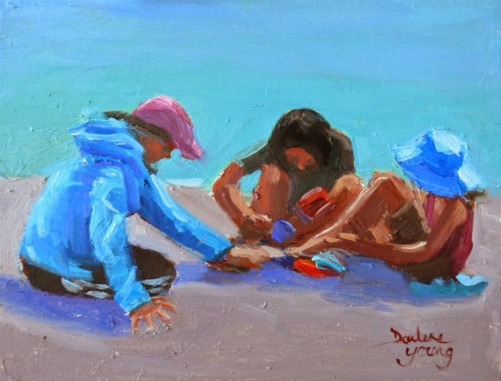 """756 Girl Talk"" original fine art by Darlene Young"