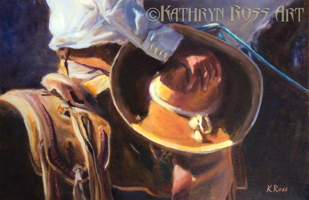 """Sombrero"" original fine art by Kathryn Ross"