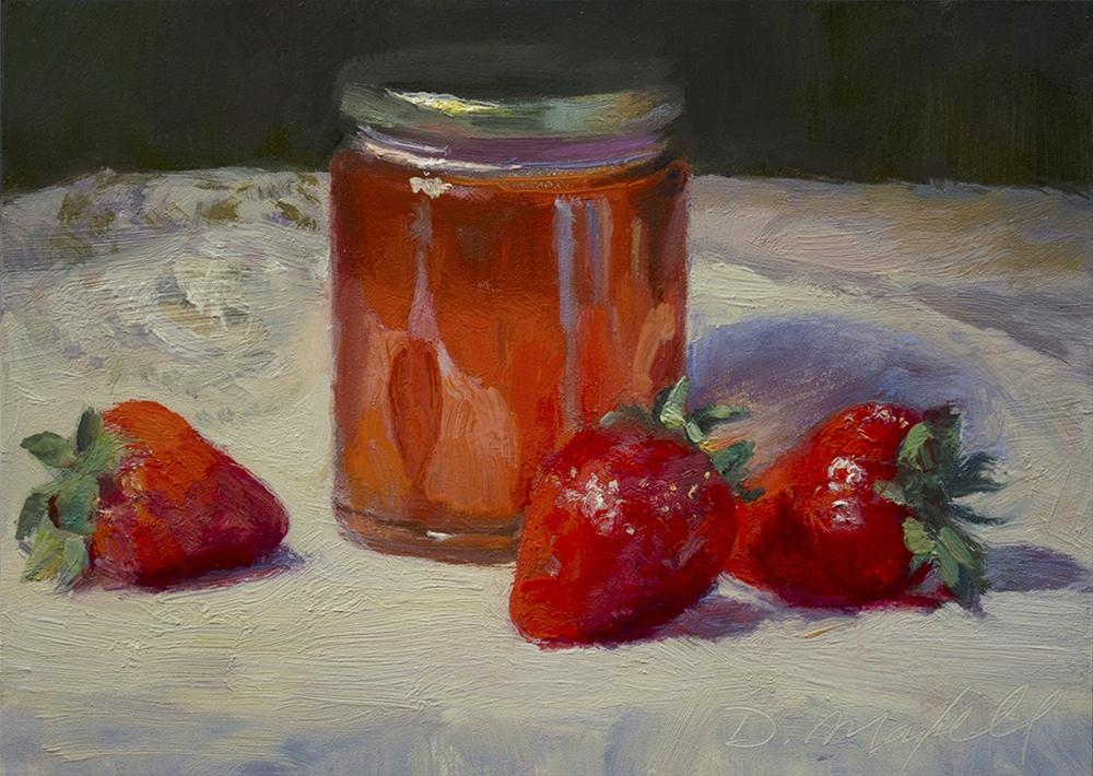 """Strawberries and Honey"" original fine art by Denise Maxwell"