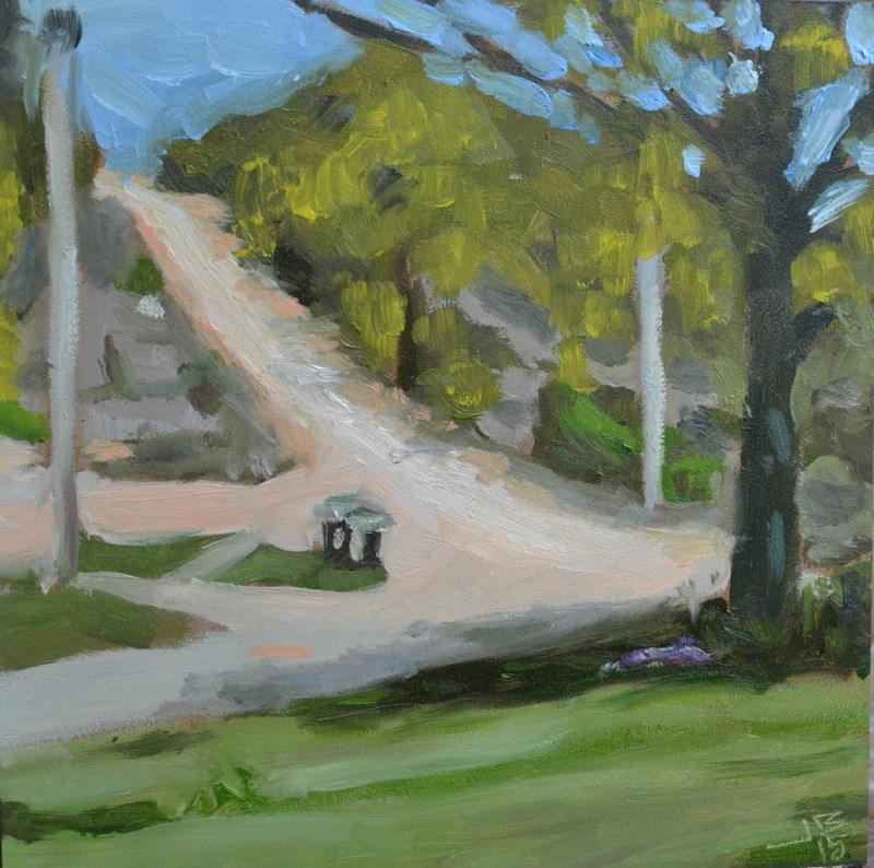 """""""Dutton Hill"""" original fine art by Jonathan Baker"""