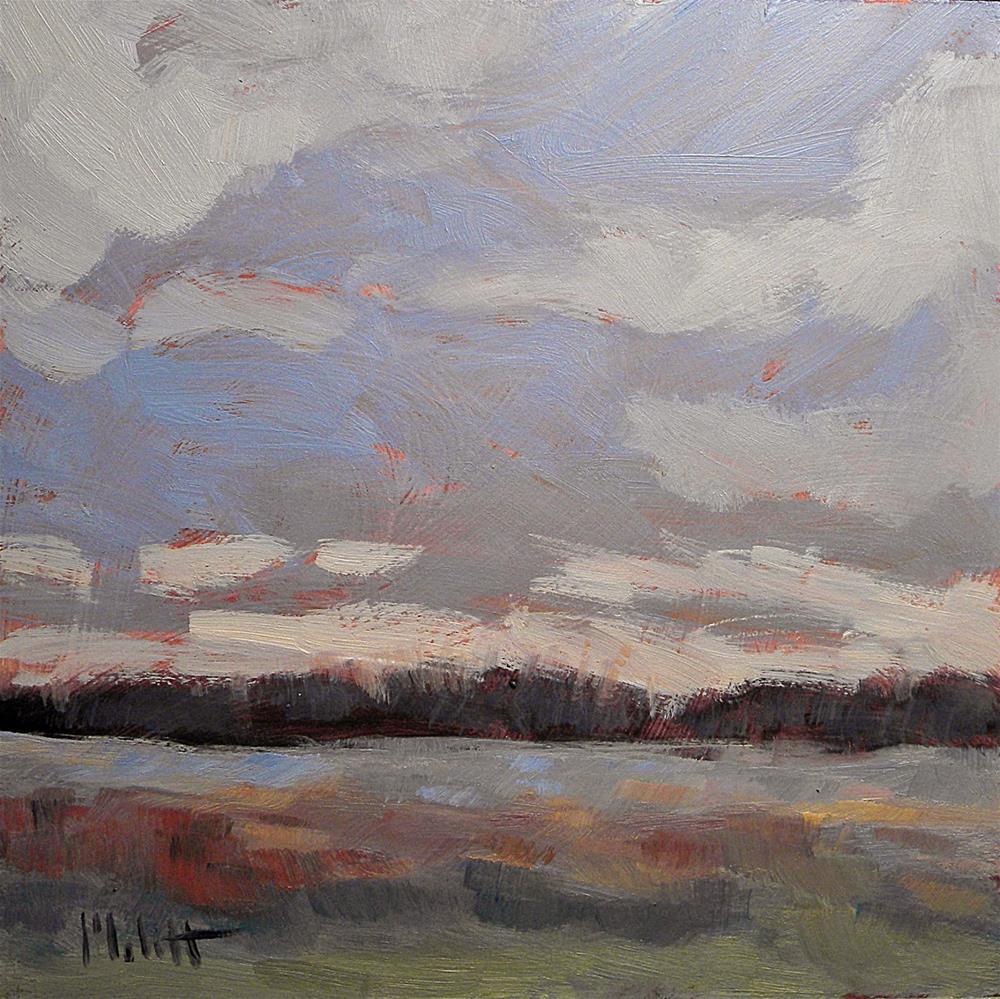 """clouds frosty spring landscape"" original fine art by Heidi Malott"