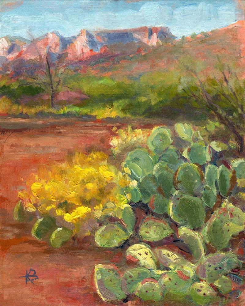 """Sedona Sunset"" original fine art by Kathy Bodamer"