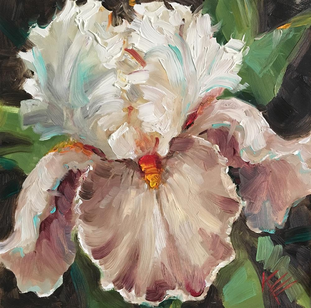 """Mocha Tall bearded iris"" original fine art by Krista Eaton"