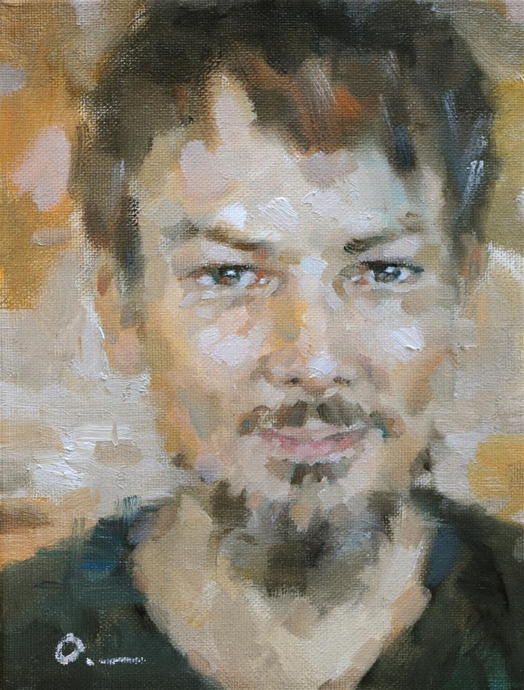 """John"" original fine art by Anny Kong"