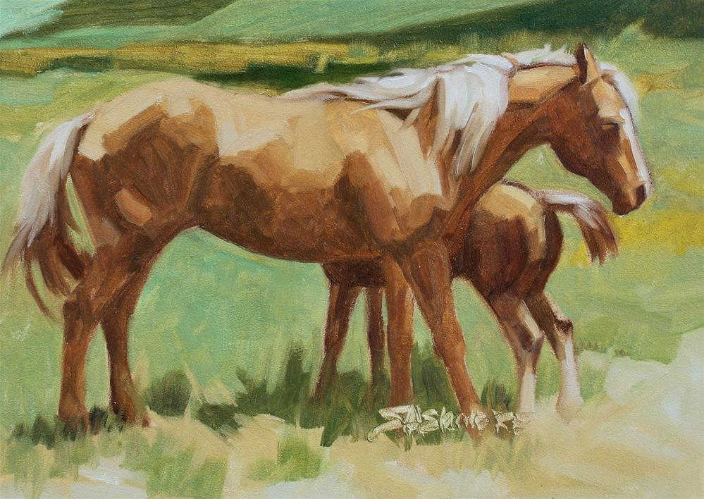 """""""Springtime Foal"""" original fine art by Susan Ashmore"""