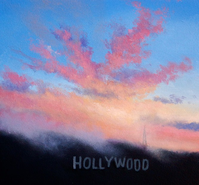 """HOLLYWOOD MORNING"" original fine art by Gerald Schwartz"