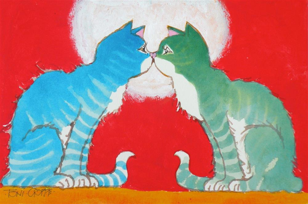 """Do I Know You?"" original fine art by Toni Goffe"