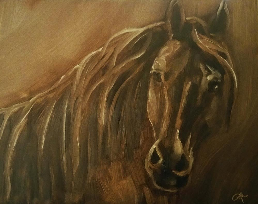 """Misty"" original fine art by Leni Tarleton"