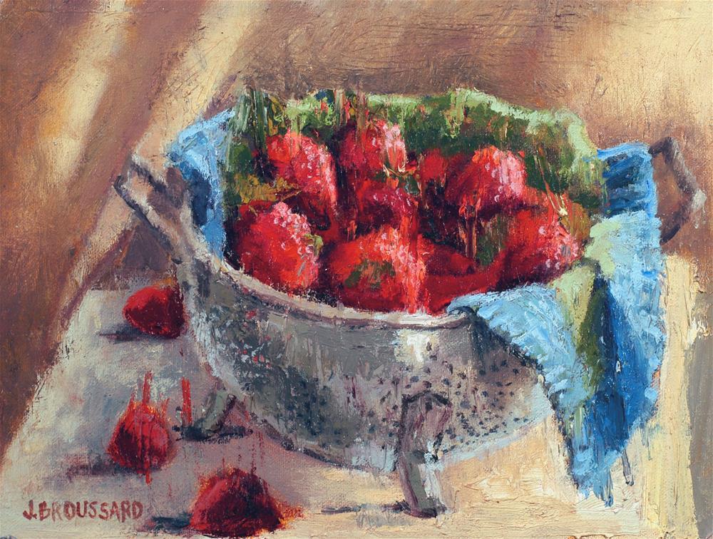 """Fresh Berries"" original fine art by Janet Broussard"