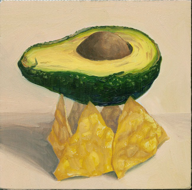 """Avocado on Chips"" original fine art by Jean Wilkey"