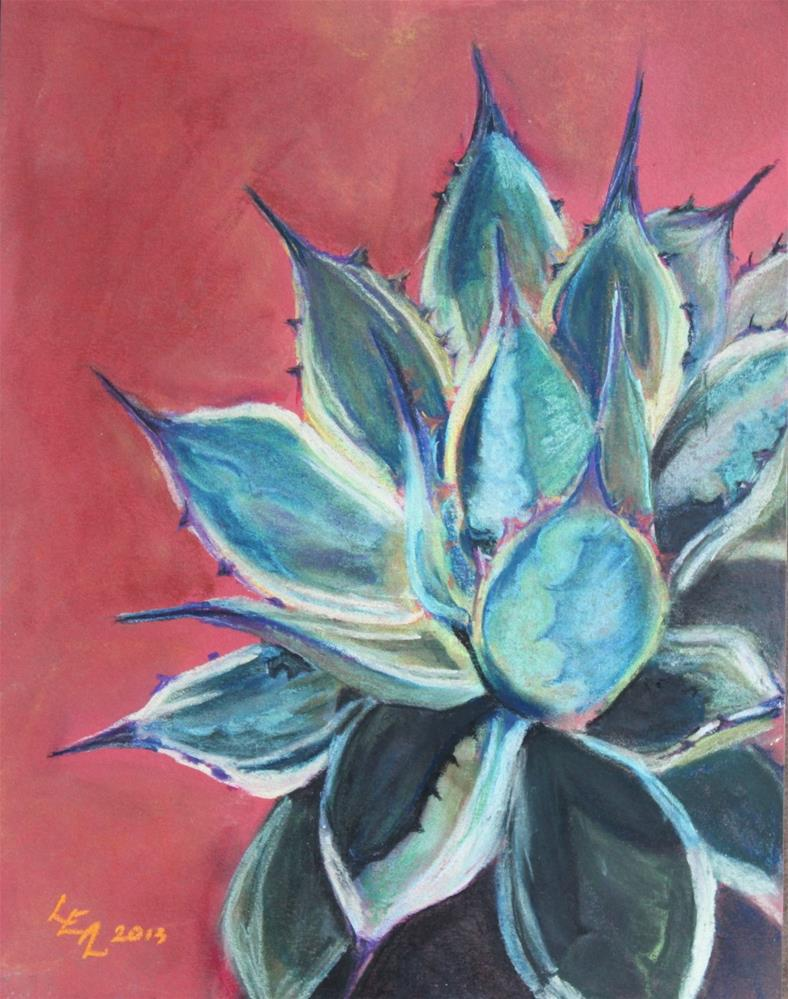 """Tall Agave with Cream"" original fine art by Anna Lisa Leal"
