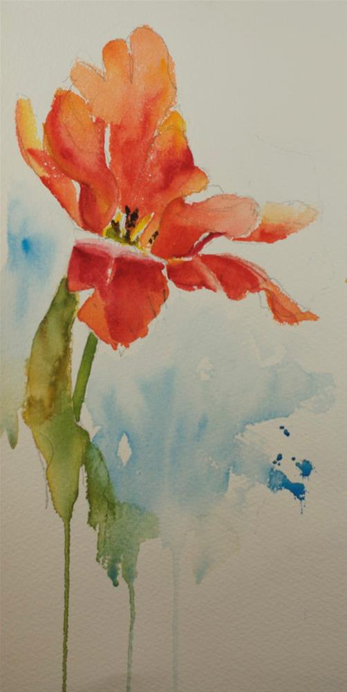 """tulip sketch"" original fine art by Sue Churchgrant"