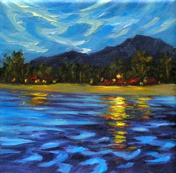 """Night over the Island of Tioman"" original fine art by Irina Beskina"