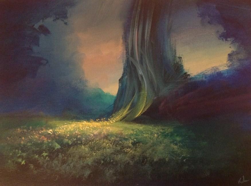 """Through This Place Should Pass"" original fine art by David Kuhn"