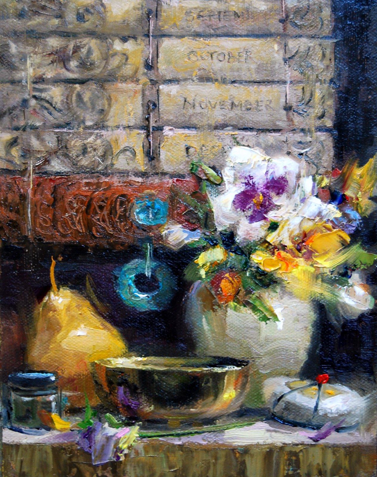 """""""The Bali Calendar"""" original fine art by Julie Ford Oliver"""