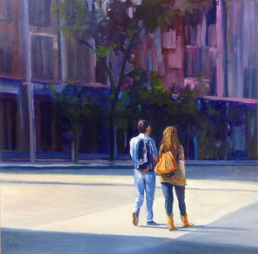 """""""Walk On The Sunny Side"""" original fine art by Cathy Boyd"""