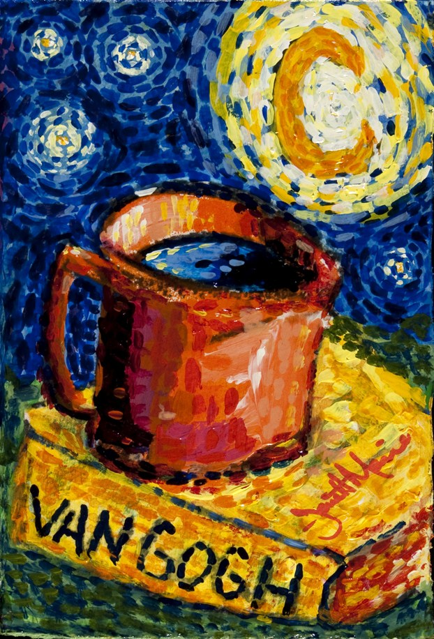 """Van Gogh's Coffee"" original fine art by - JanettMarie"
