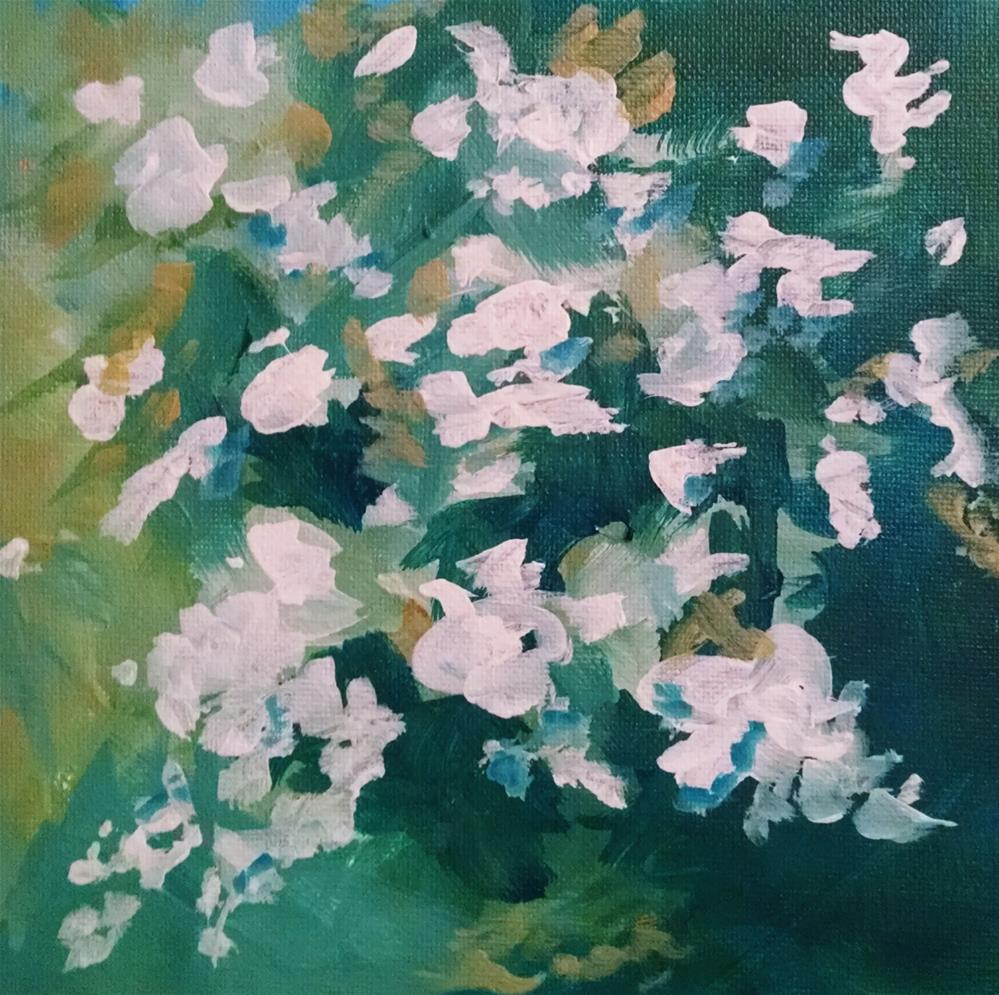 """Rambling Rose"" original fine art by Kathy Fleming"