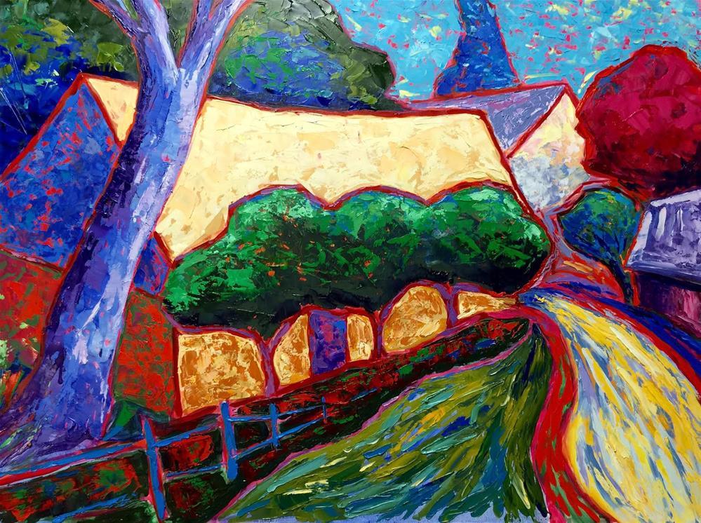 """""""Phillips Mill Prismatico"""" original fine art by Laurie Rubinetti"""