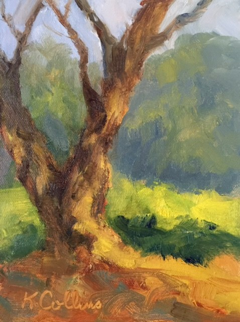 """Dappled Light"" original fine art by Kathy Collins"