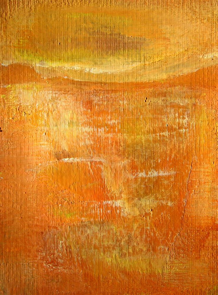 """Orange Abstract"" original fine art by Alina Frent"