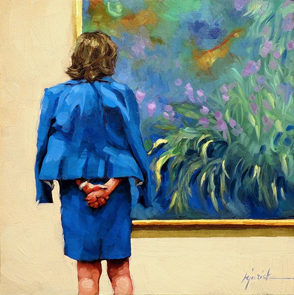 """The Blues"" original fine art by Karin Jurick"