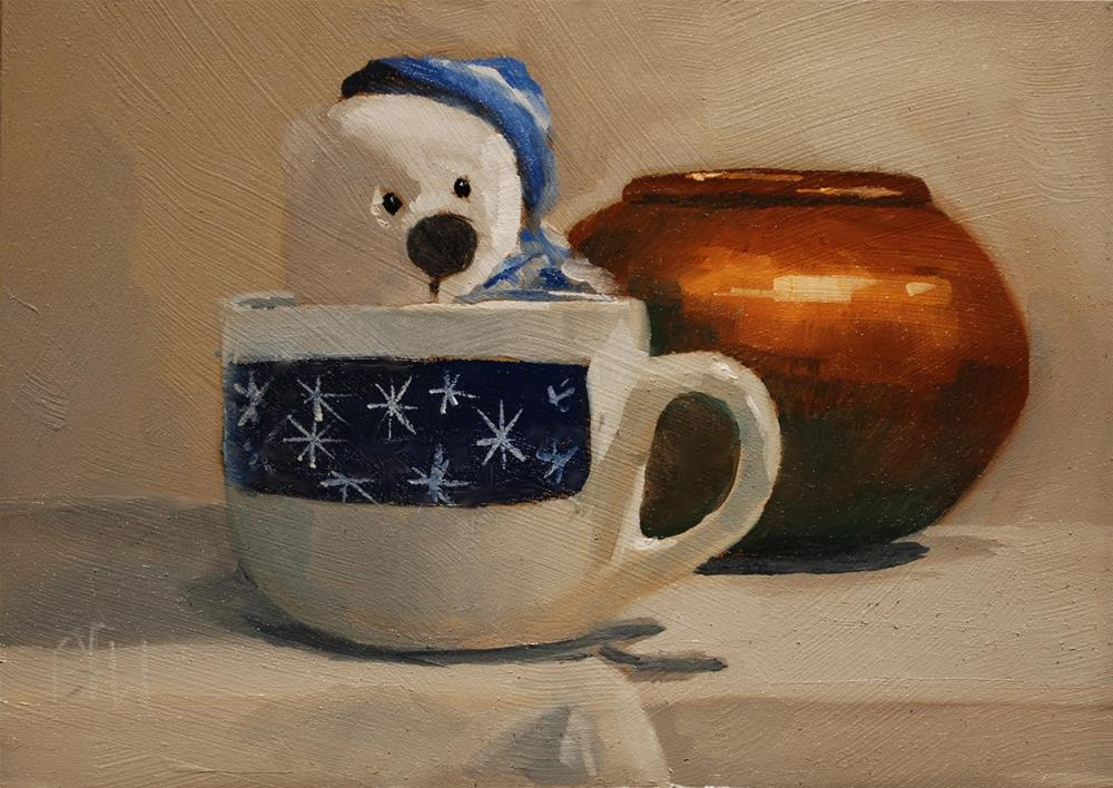 """Blue Bear"" original fine art by Gary Westlake"