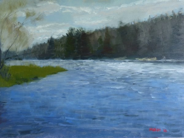 """Mississippi River at Pokegama Dam"" original fine art by Weston Hobdy"