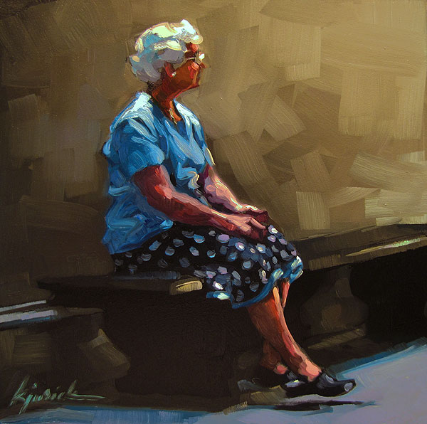 """Ladylike"" original fine art by Karin Jurick"