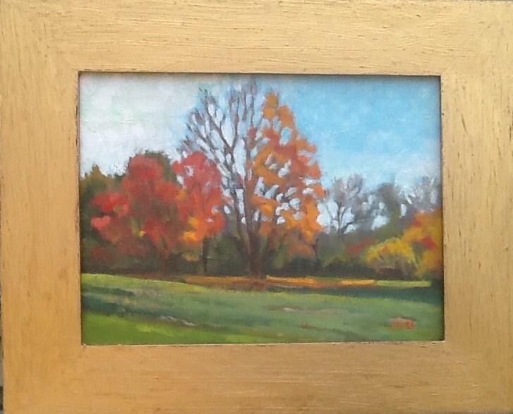 """""""Fallen Orange"""" original fine art by Elizabeth Bish"""