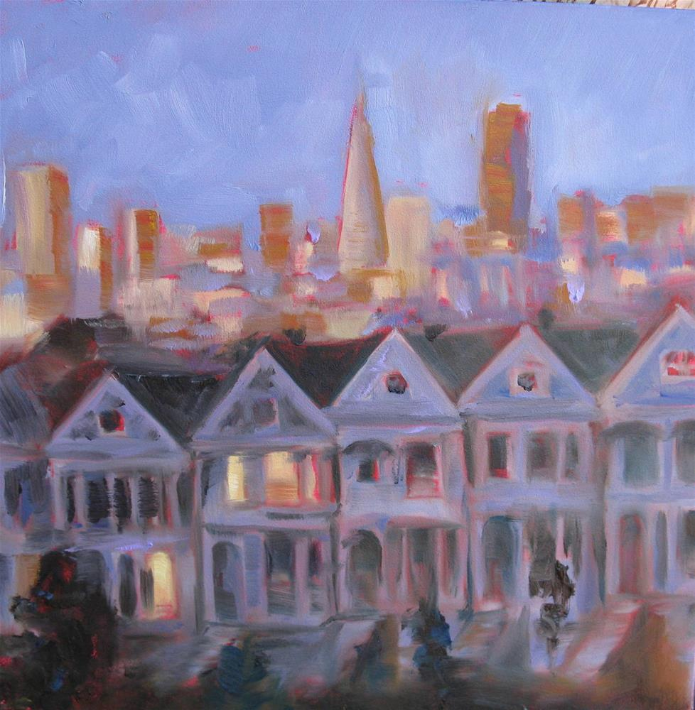 """The Painted Ladies   #135"" original fine art by Sandy Haynes"