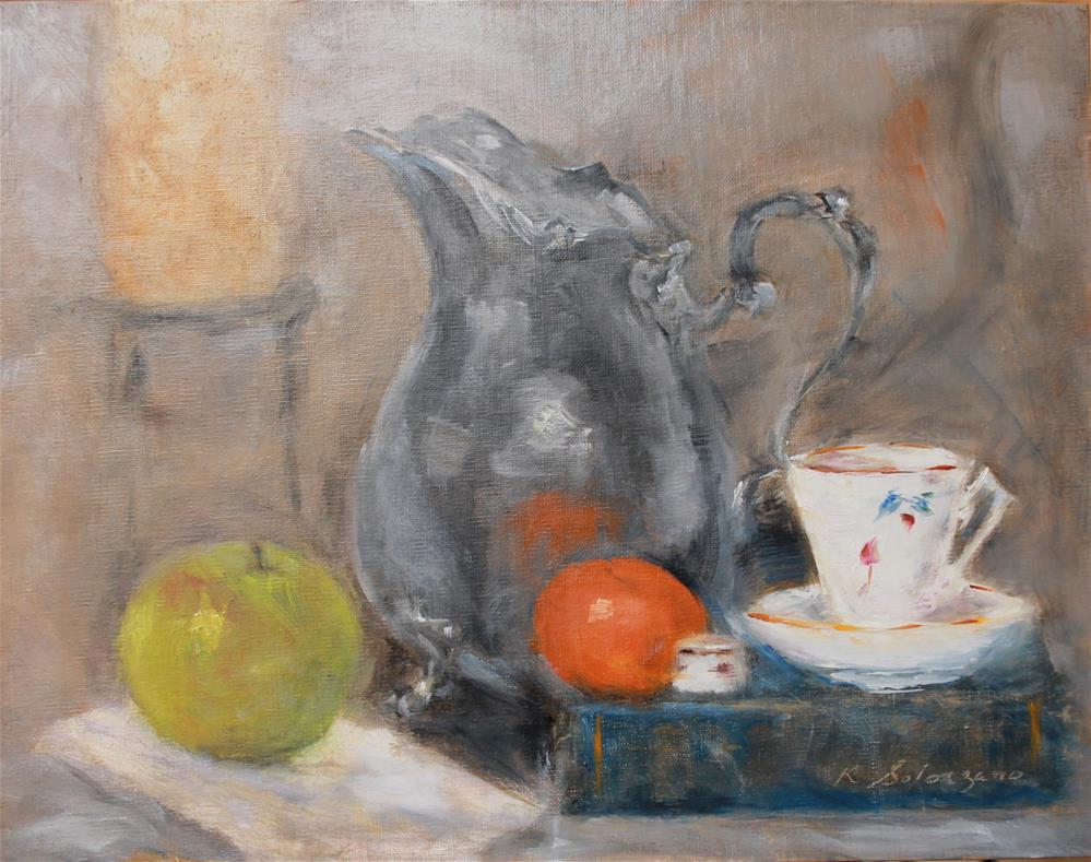 """Unpolished"" original fine art by Karen Solorzano"
