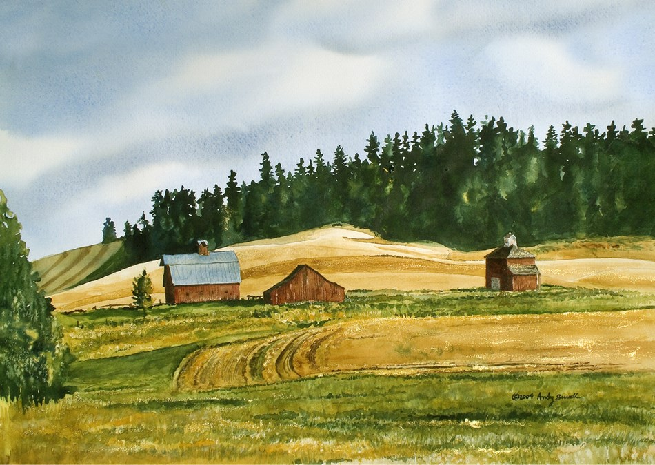 """Red Barn Country"" original fine art by Andy Sewell"