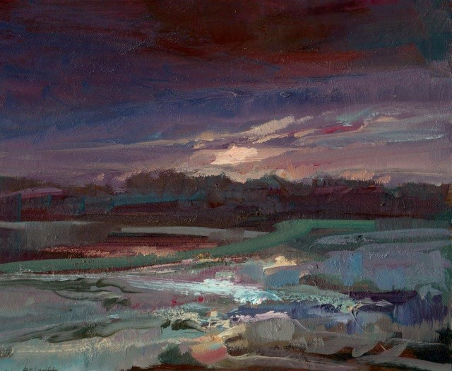 """Winter Estuary"" original fine art by Anne Wood"