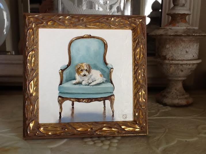 """My blog is goin' to the dogs!"" original fine art by Kimberly Applegate"
