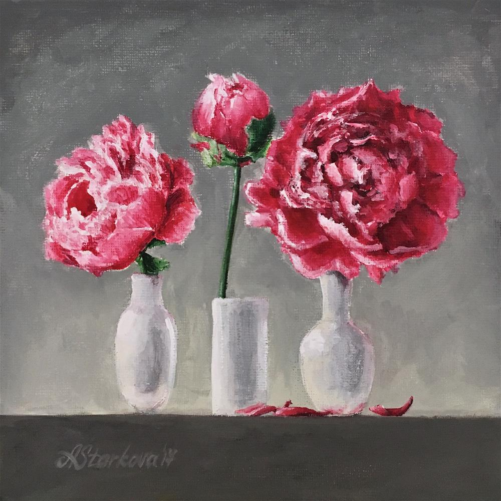"""Peony passion"" original fine art by Anna Starkova"
