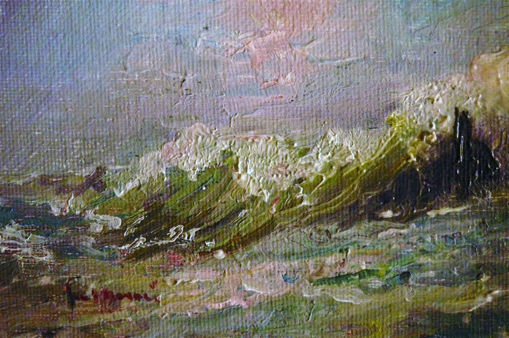 """Sunset & Surf"" original fine art by Jane Morac'E"