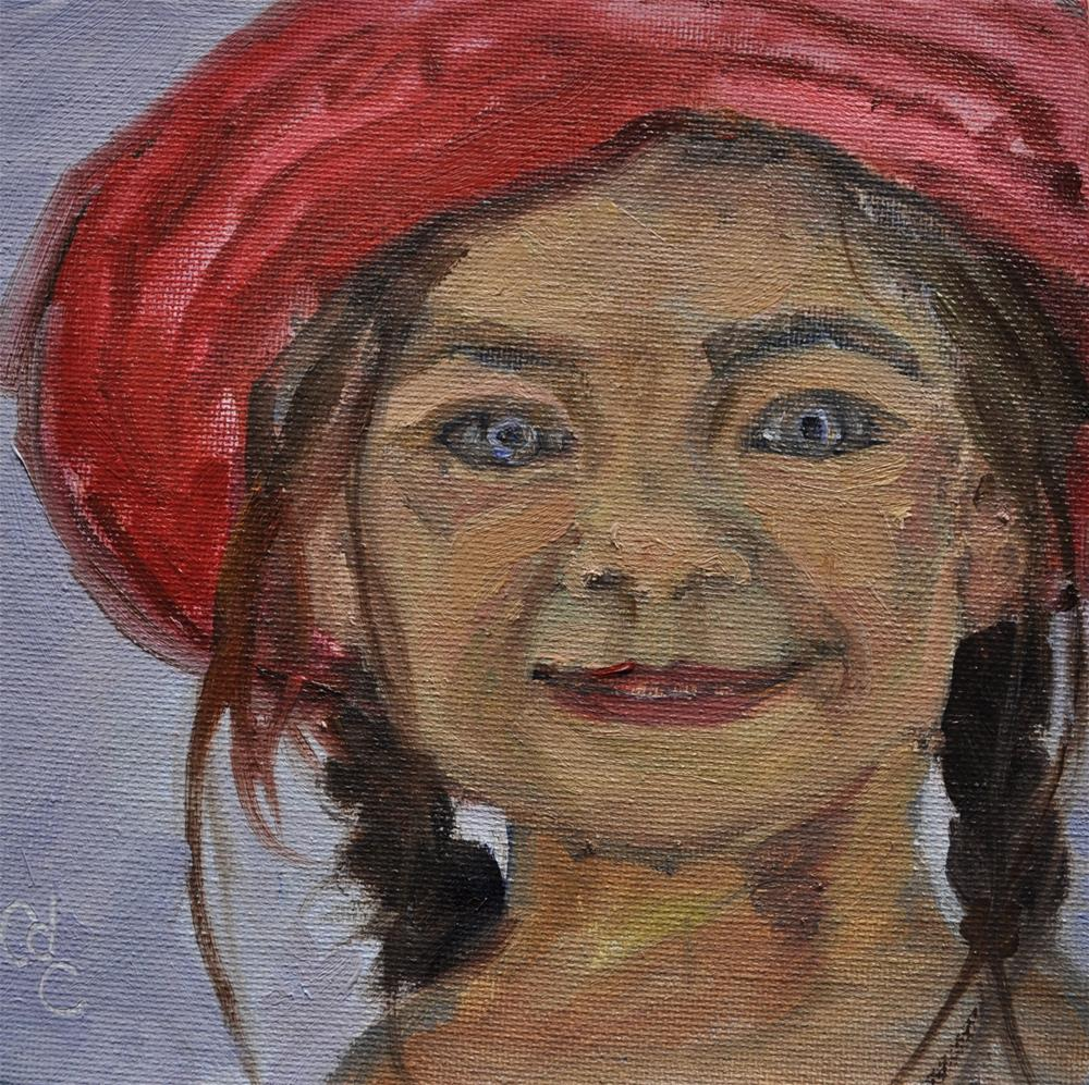 """Doll Face"" original fine art by Catherine Crookston"
