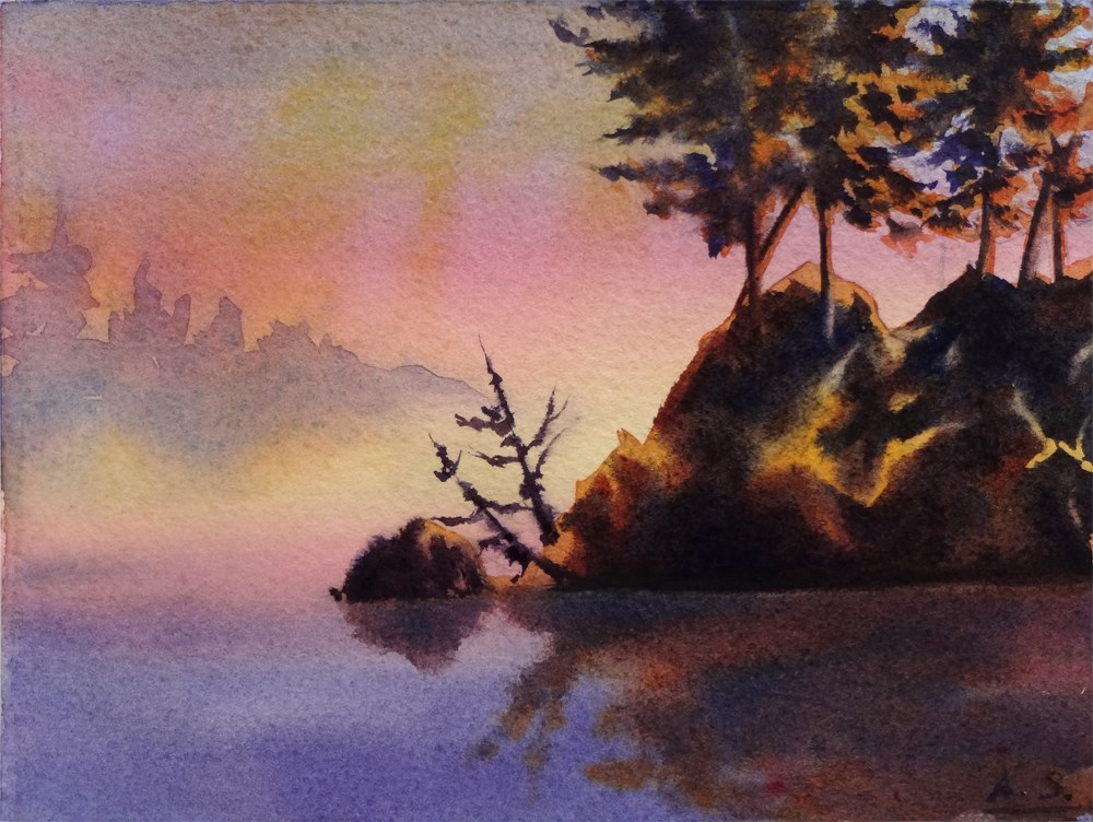 """Misty Dawn, Ruby Beach"" original fine art by Arena Shawn"