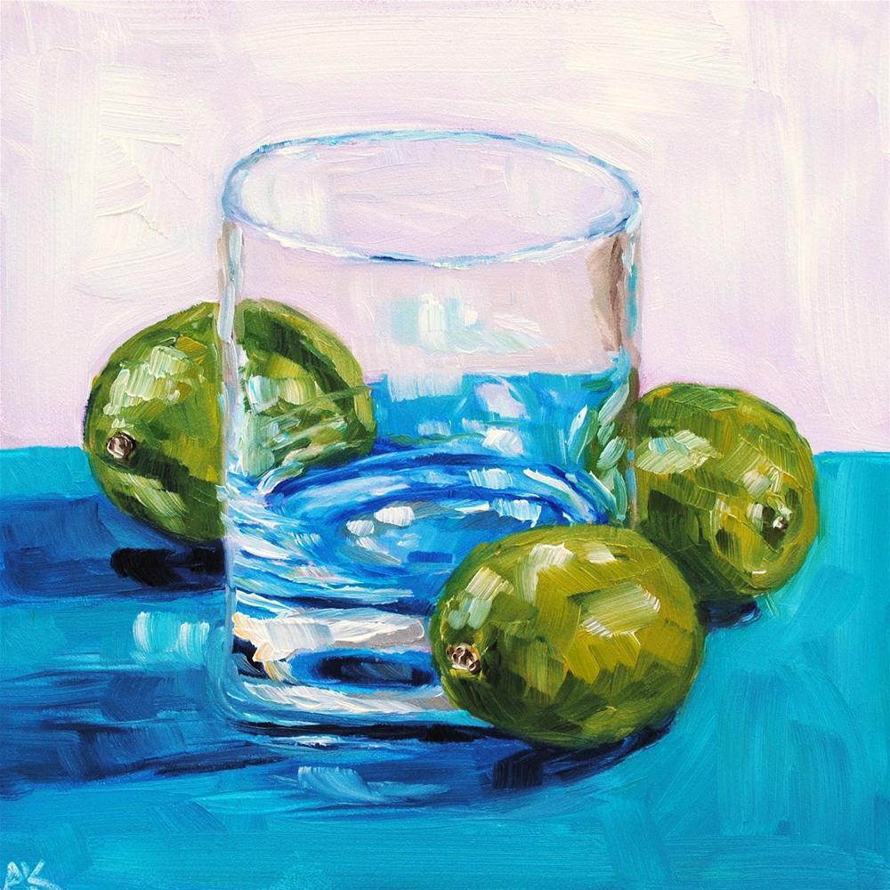"""Mischievous Limes"" original fine art by Alison Kolkebeck"