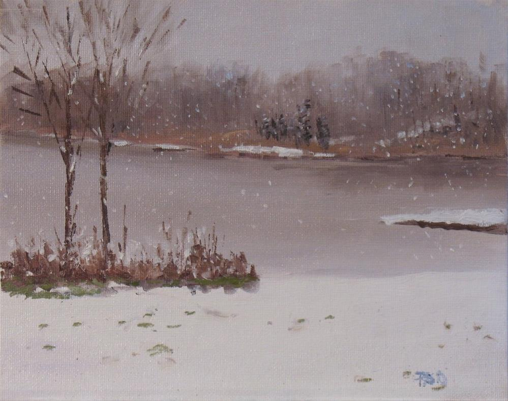 """Morning Snow"" original fine art by Patrick O'Driscoll"