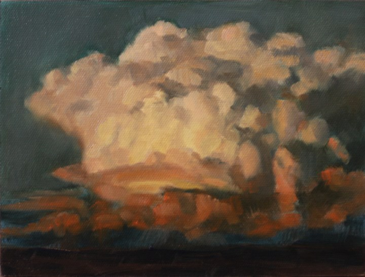 """Sunset Storm Cloud"" original fine art by Pamela Poll"